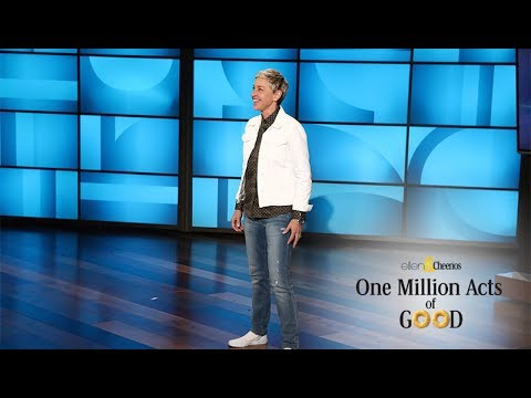 Ellen Puts a Spotlight on One Million Acts of Good