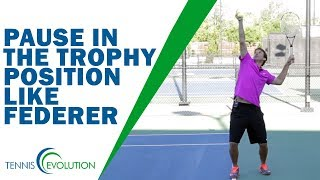 TENNIS SERVE | Should You Pause In The Trophy Position Like Roger Federer ?