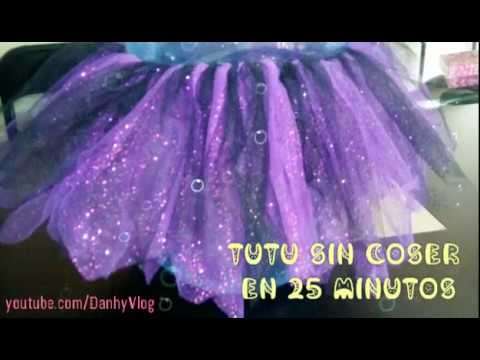 01836271a Como hacer un tutu SIN COSER en 25 minutos 💖 👗 || DanhyVlog
