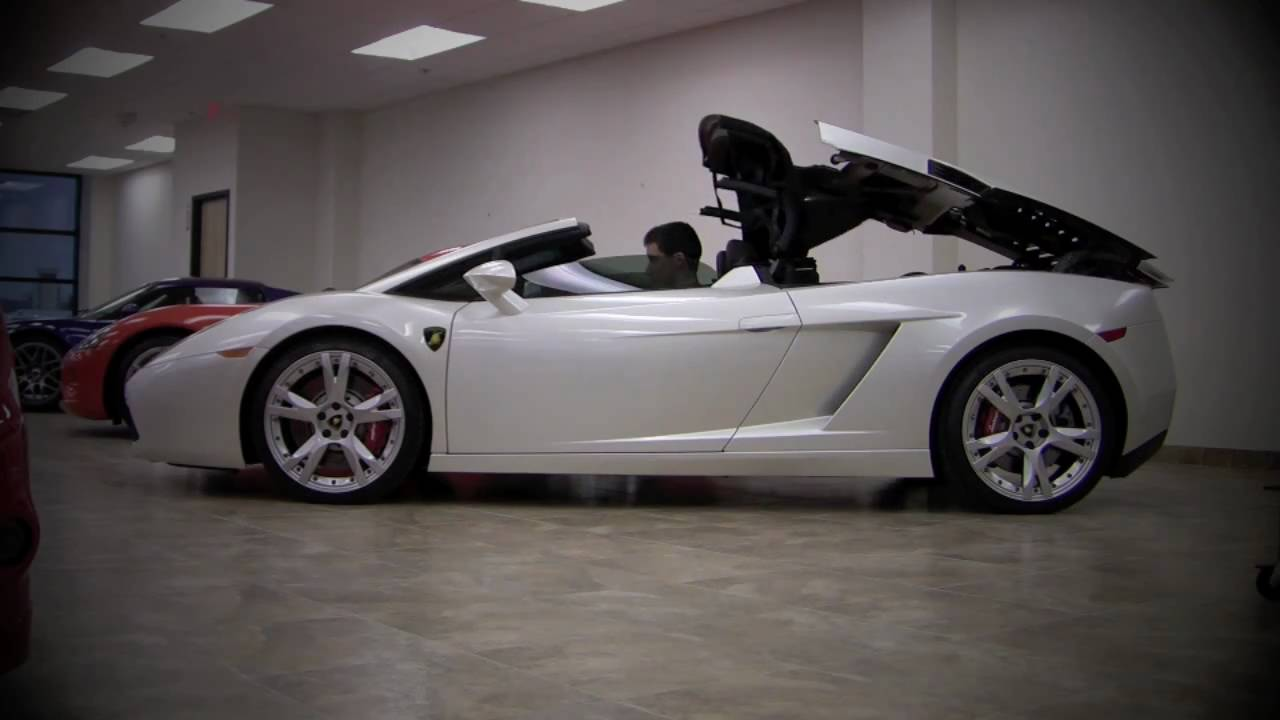 Lamborghini Gallardo Spyder Start Up Roof Action Revs