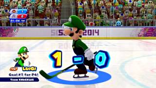Mario and Sonic at the Sochi 2014 Olympic Winter Games - Part 15: Ice Hockey