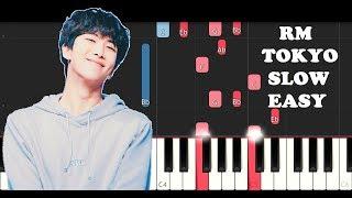 RM - Tokyo (SLOW EASY PIANO TUTORIAL)