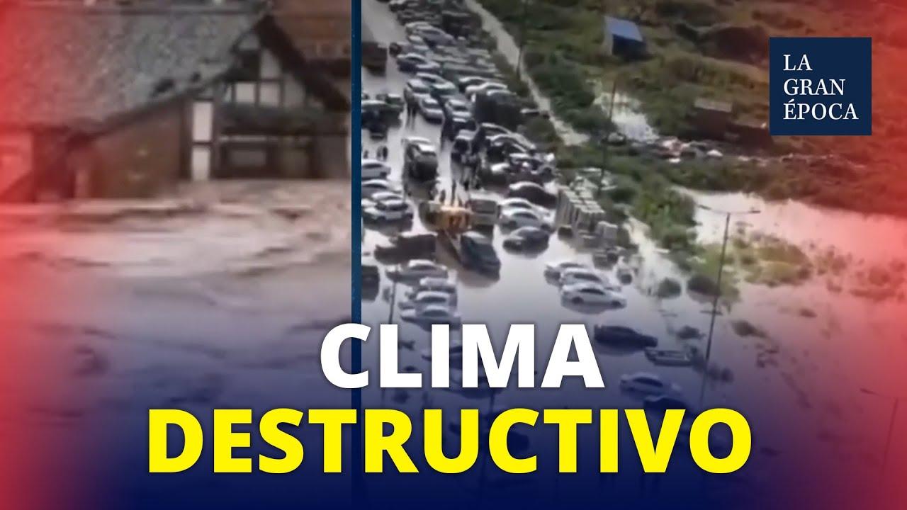 Nieve, granizo e inundaciones continúan devastando China