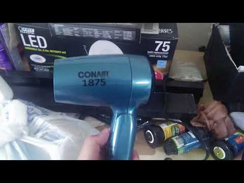 CONAIR 1875 STYLER HAIR BLOWDRYER ( TURQUOISE BLUE) REVIEW