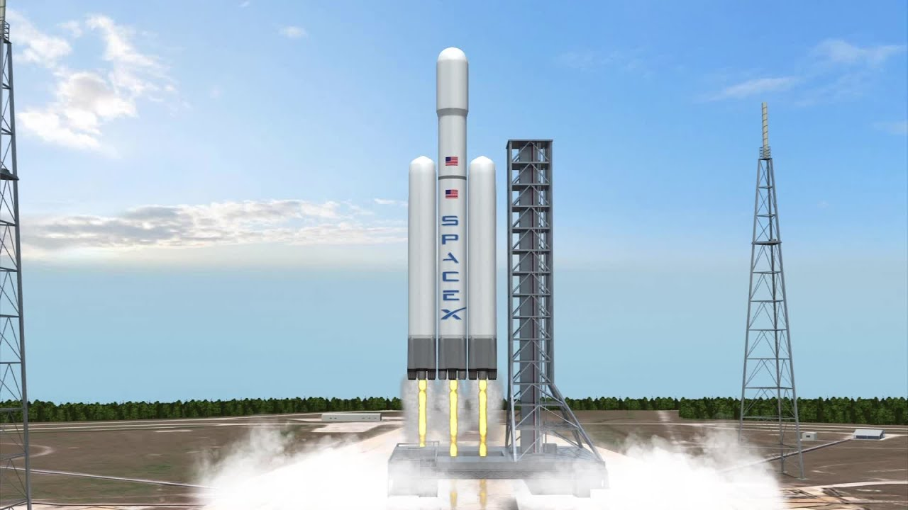 spacex to launch falcon heavy rocket with tesla car on board youtube. Black Bedroom Furniture Sets. Home Design Ideas