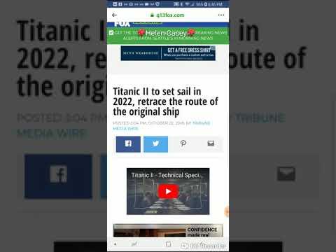 DC - Titanic 2 to set sail!