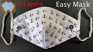 4 Layers Very Easy Pattern Mask Face Mask Sewing Tutorial Anyone Can Make This Mascarilla