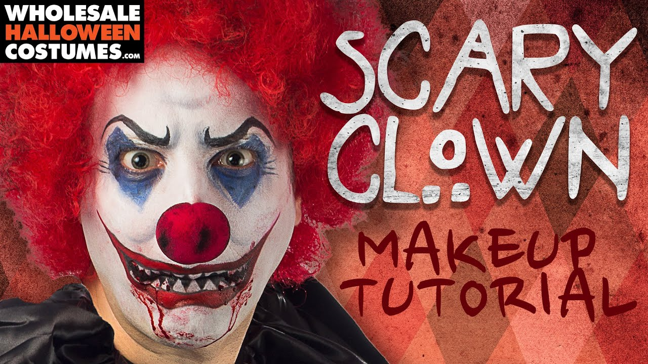 Scary Clown Makeup Tutorial | #WHCdoesSFX - YouTube