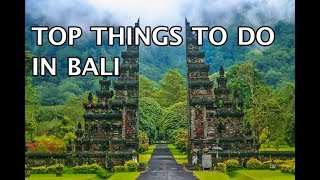 Top Things To Do in Bali, Indonesia 2020 4k