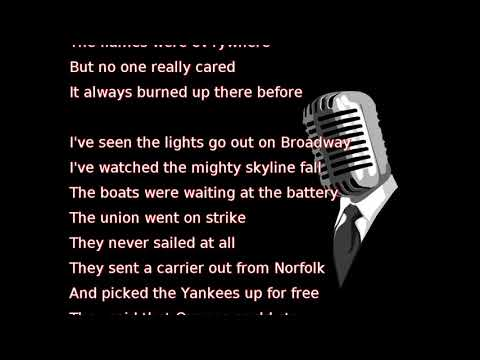 Billy Joel - Miami 2017 (Seen the Lights Go Out on Broadway) (lyrics)