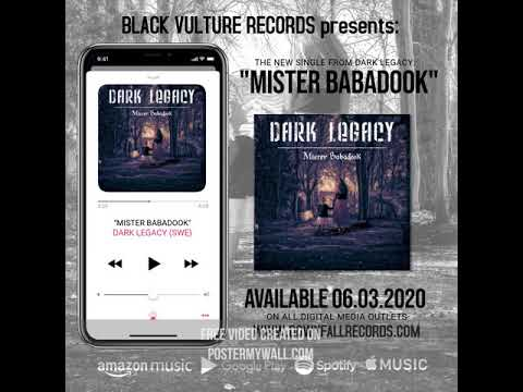 """DARK LEGACY  (SWE) - """"MISTER BABADOOK"""" Preview single"""