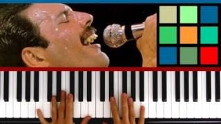 """How To Play """"Bohemian Rhapsody"""" Piano Tutorial / Sheet Music (Queen) Part 1"""