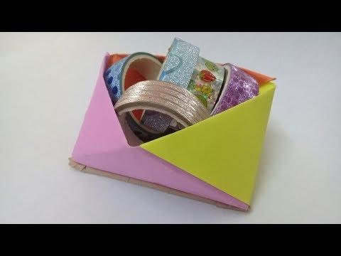 DIY DESK ORGANIZER WITH PAPER - Amazing paper crafts!