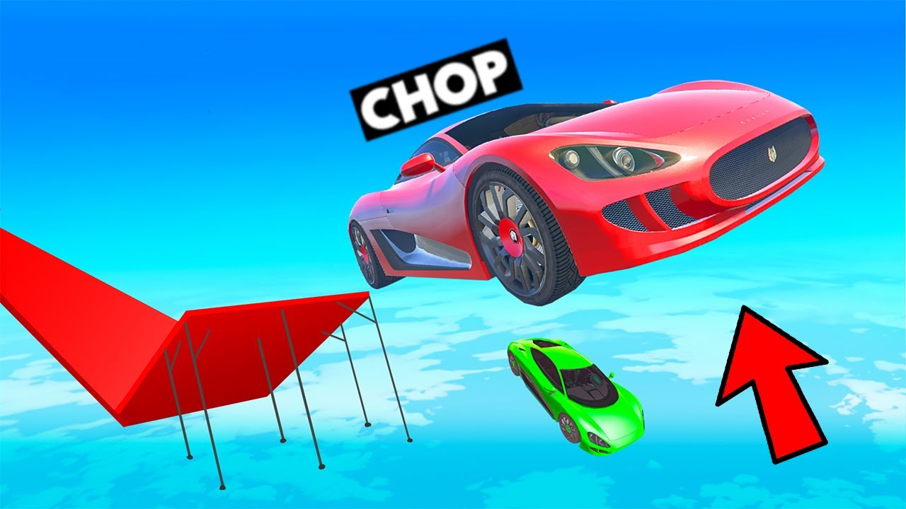 THE BIGGEST TROLL RAMP JUMP IN THE HISTROY OF RACES IN GTA 5