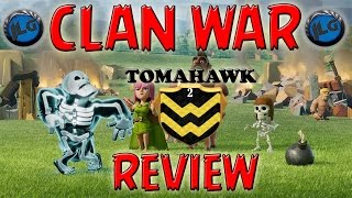 CLASH OF CLANS - STUPENDA GUERRA TRA CLAN CON ATTACCHI 3 STELLE - CLAN WAR REVIEW #1 [TOMAHAWK]