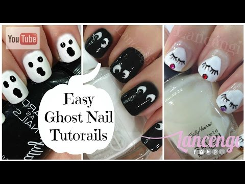 DIY Halloween Nail Art - Cute & Easy Ghost Nails