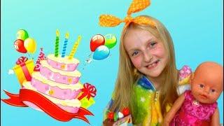Tawaki kids pretend play with   BIRTHDAY  baby born \Video for kids