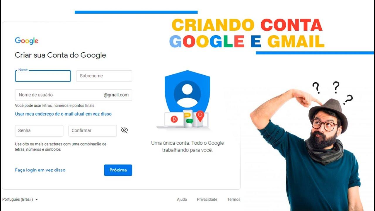 Como Criar Conta No Google E Gmail