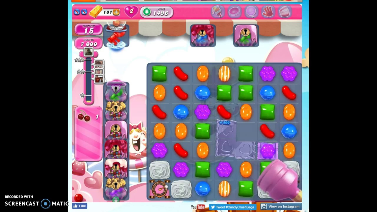 Candy Crush Saga Level 1496 Help Solutions And More Gogamerez