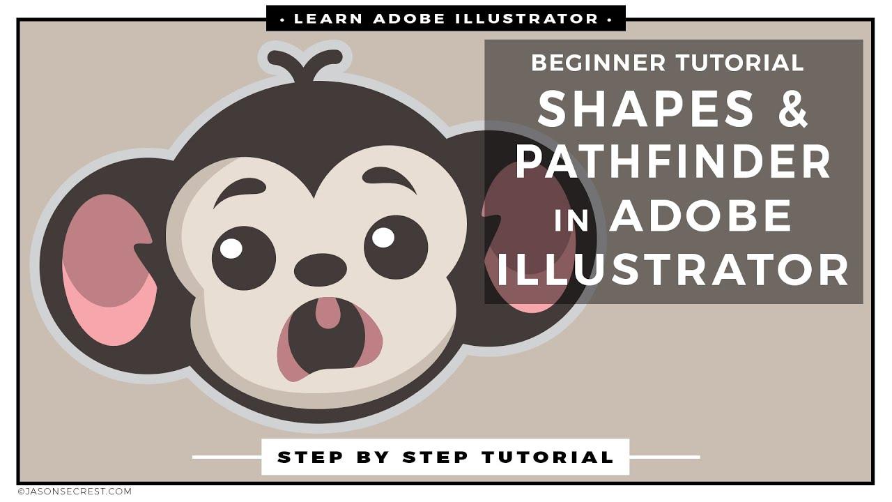 Beginner Adobe Illustrator Tutorial using Shapes - YouTube