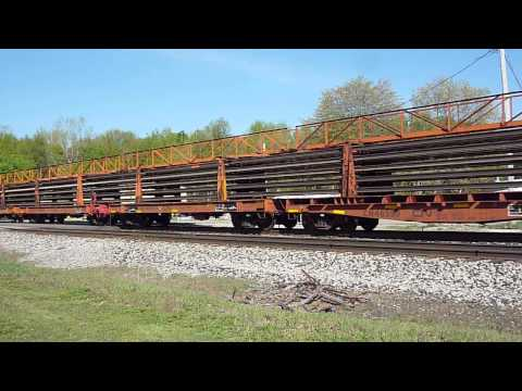 Grand Trunk Western GP38-2 with the welded rail train