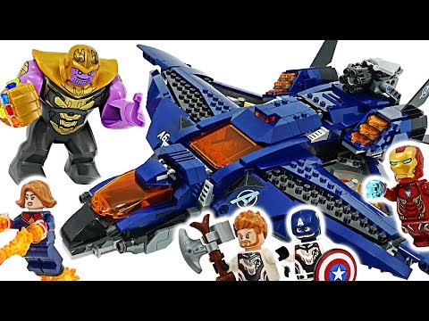 Marvel LEGO Avengers End Game! Ultimate Quinjet! Go! Take Infinity Stone from Thanos! #DuDuPopTOY |