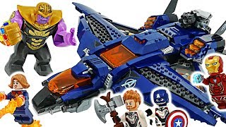Marvel LEGO Avengers End Game! Ultimate Quinjet! Go! Take Infinity Stone from Thanos! #DuDuPopTOY