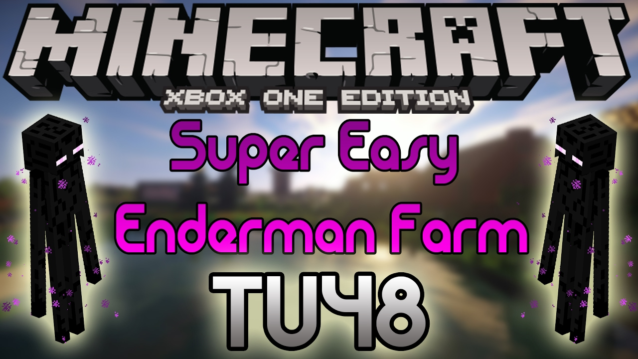 Minecraft Xbox One And Ps4 Super Easy Enderman Farm Very Little Resources