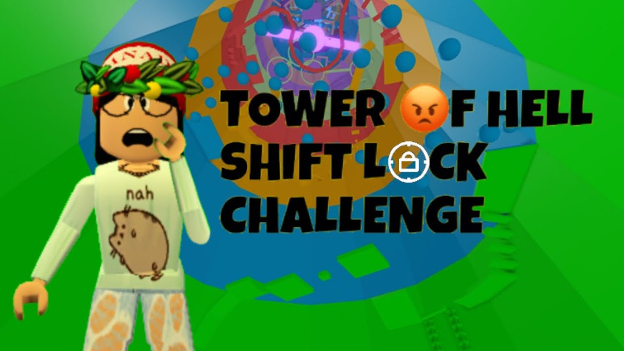 Tower Of Hell Shift Lock Challenge Roblox Video Youtube
