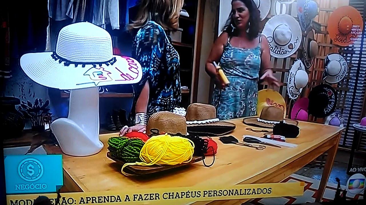 DIY CHAPÉU DE PRAIA PERSONALIZADO - PASSO A PASSO - YouTube dc685aad6df