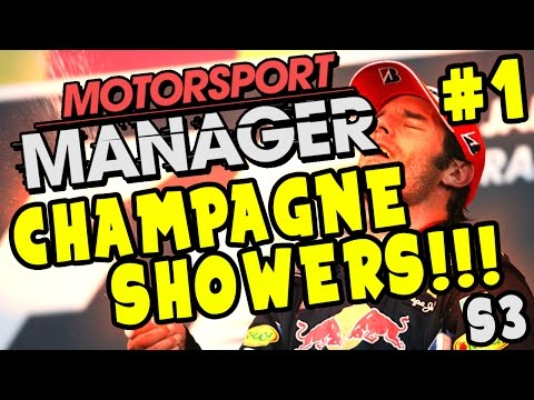 Motorsport Manager PC Career Gameplay: CHAMPAGNE SHOWERS!!! - S3 Part 1