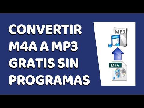 🔴 Cómo Convertir M4A a MP3 Sin Programas 2020