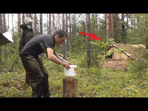СУПЕР ИЗБА - ЗЕМЛЯНКА! Стройка подходит к концу. DIY/ Жизнь в лесу налаживается!