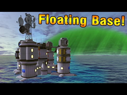 KSP: Building a floating base on LAYTHE!