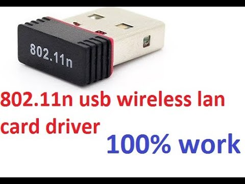 802 11n Usb Wireless Lan Card Driver 100% Working (Download Link In Description)