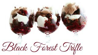 "Black Forest Trifle   Десерт ""Черный лес"""