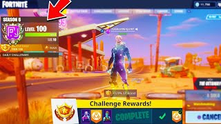 What happens AFTER LEVEL 100 in Fortnite!! (NEW SEASON 5 LEVEL 100 UNLOCKED)