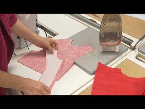 Sewing Lesson: Neck Facing - Interfacing (2/5)