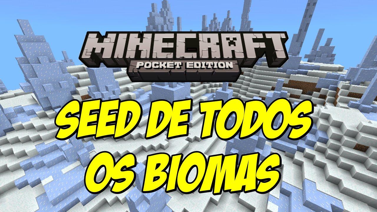 Seed De Todos Os Biomas Minecraft Pe   0 9 5 E 0 10 0
