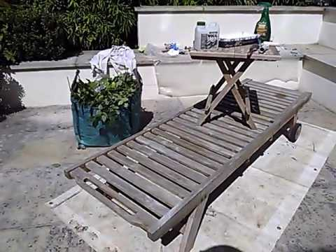 Deck Chair Cleaning And Teak Oil Cupernol Part 46