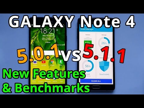 Galaxy Note 4 Android 5.1.1 vs 5.0.1 New Features & Benchmarks N910CXXU1COH4