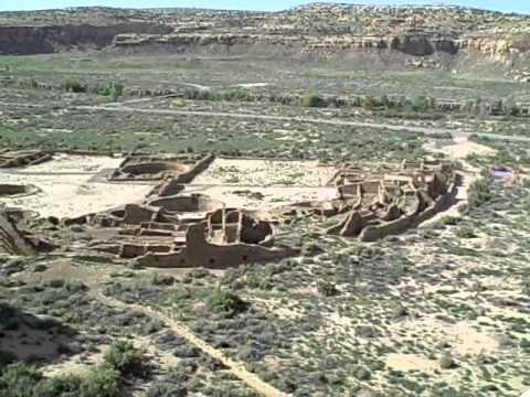 Sitting on a cliff in Chaco Culture National Historical Park