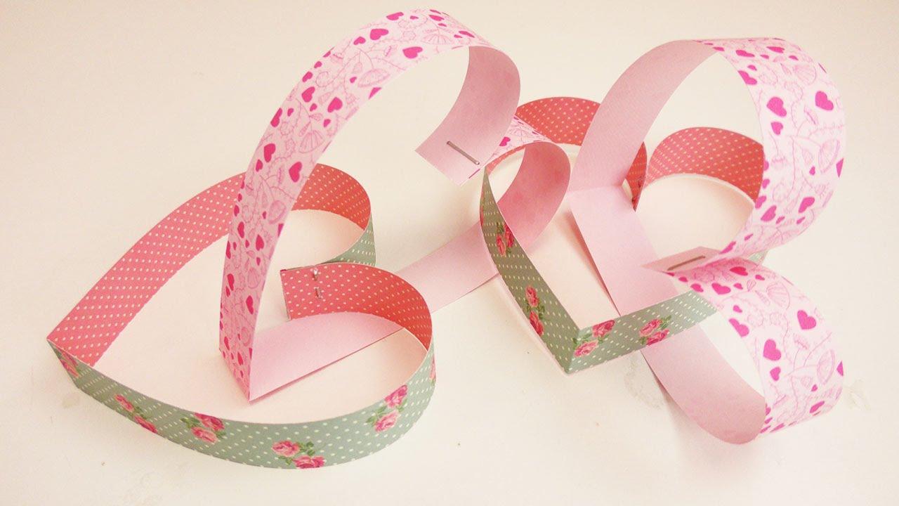 herzgirlande aus papier sch nes geschenk oder dekoration zum valentinstag geschenkidee youtube. Black Bedroom Furniture Sets. Home Design Ideas