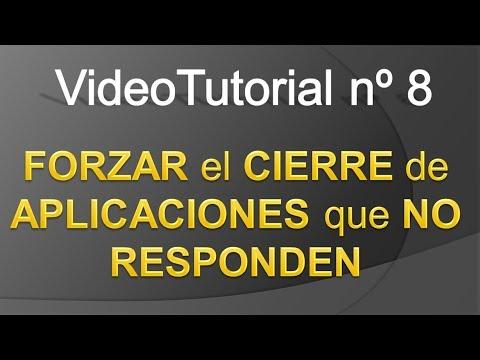 TPI - Videotutorial nº 8 - Como forzar el cierre inmediato de una aplicacion que no responde
