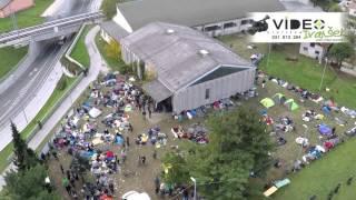 DOBOVA begunci danes ob 13.30  22 10 2015 Video IVANŠEK