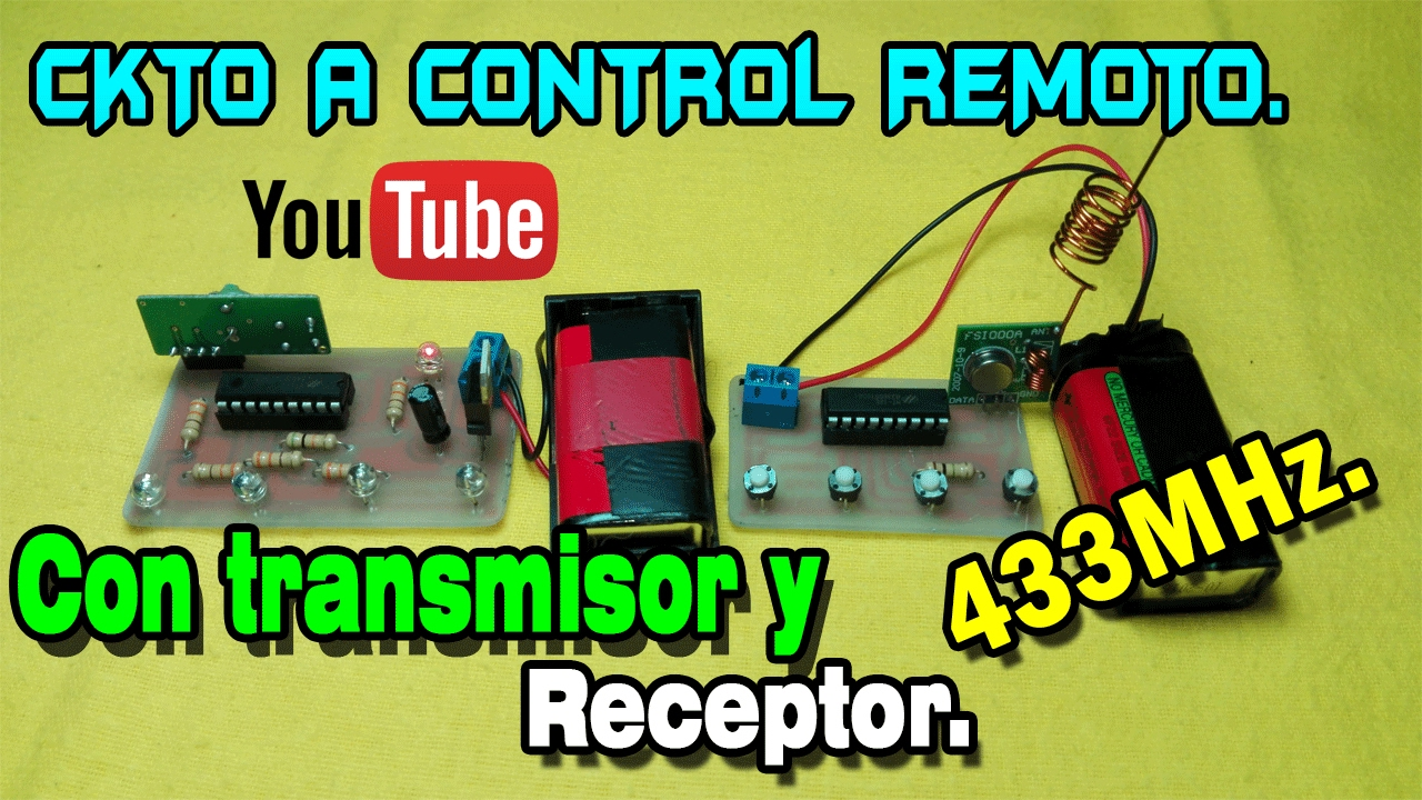 Módulos De Radiofrecuencia De 433mhz Control Remoto 4 Salidas Digitales