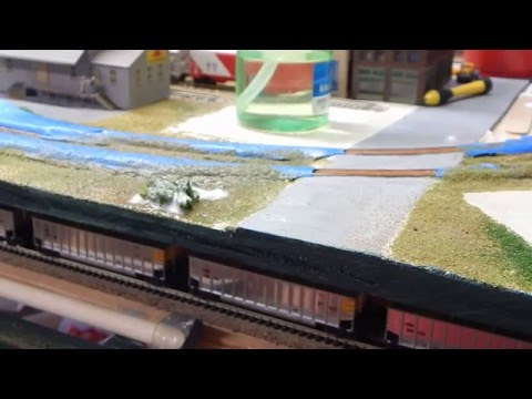DIY/Easy how to scenery for Model Railroading/Union Pacific & Santa fe Railway N-scale
