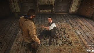 Red Dead Redemption 2 - Arthur Recover debt From Wrobel Polish Guy Gameplay (Funny Conversation)