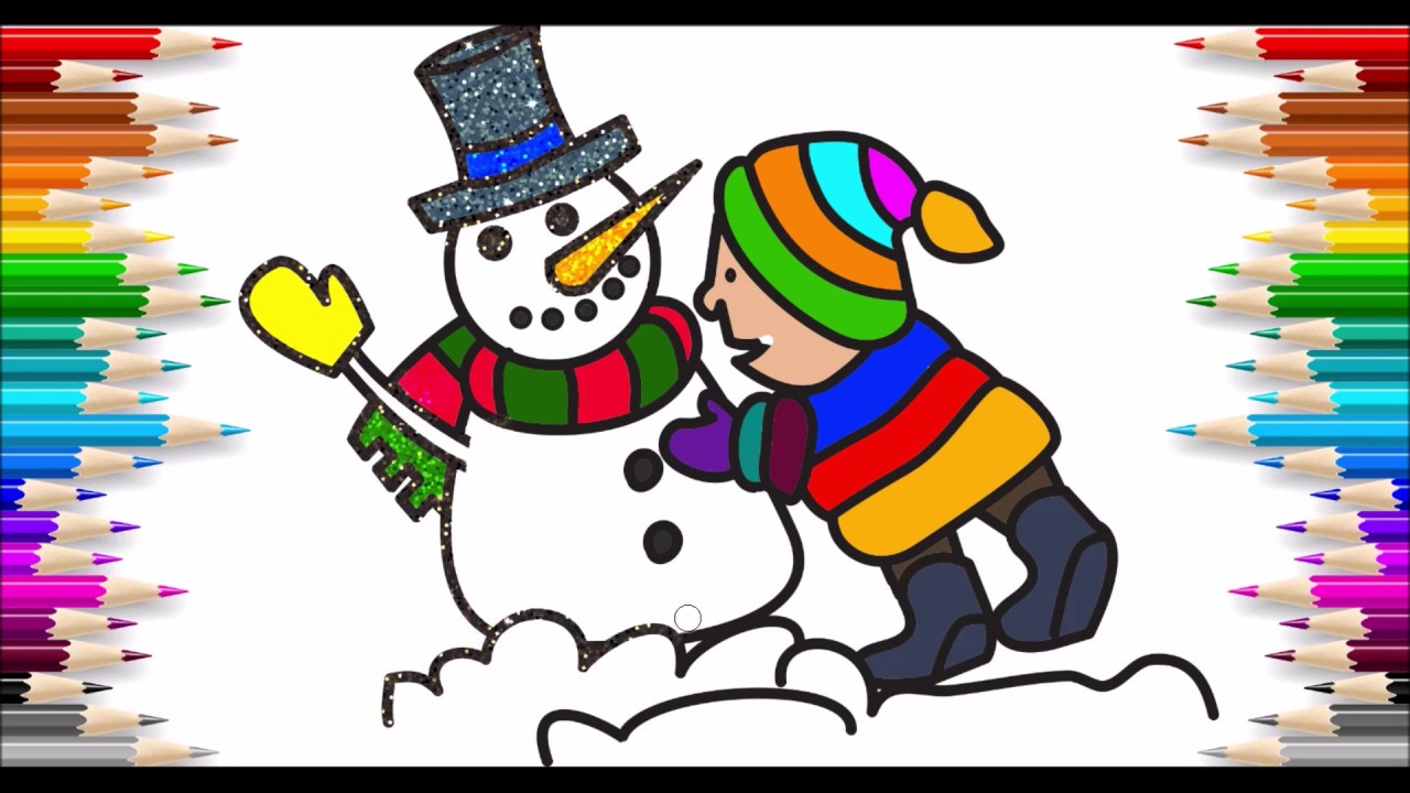 Simli Kardanadam Boyama Bright Snowman Painting Youtube