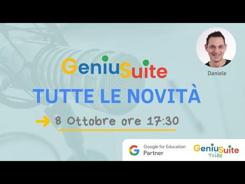 GeniuSuite una live per scoprire tutte le novità!   Upgrade ottobre 2021